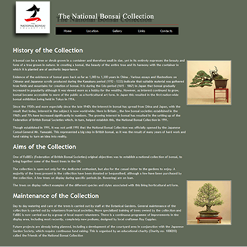 The National UK Bonsai Collection